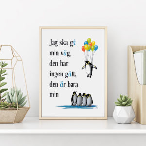 Konsttryck med citat
